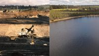 Lake Kepwari - then and now