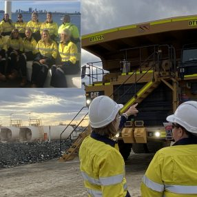 Female truck drivers at Mineral Resources