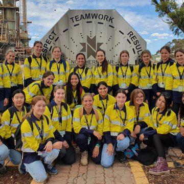 Girls Focus On Mining Camp Northern Star visit