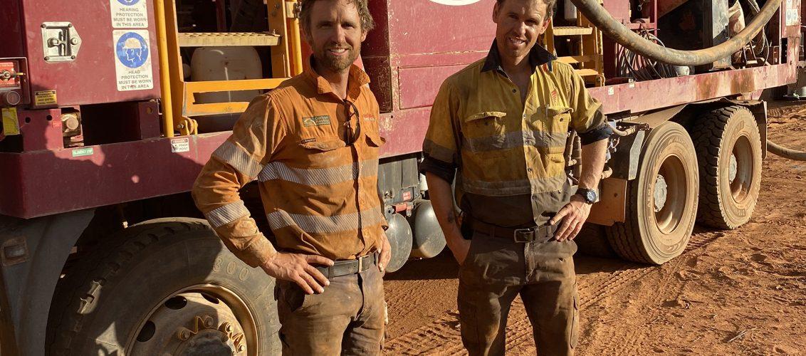 Johnathan and Henry Taitt run Redrock Drilling