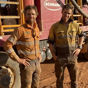 Johnathan and Henry Taitt run Redrock Drilling