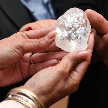 The giant diamond found in Botswana