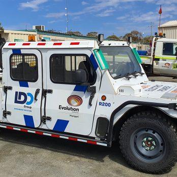 Evolution Mining Electric Vehicle