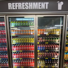 An FMG refreshment station