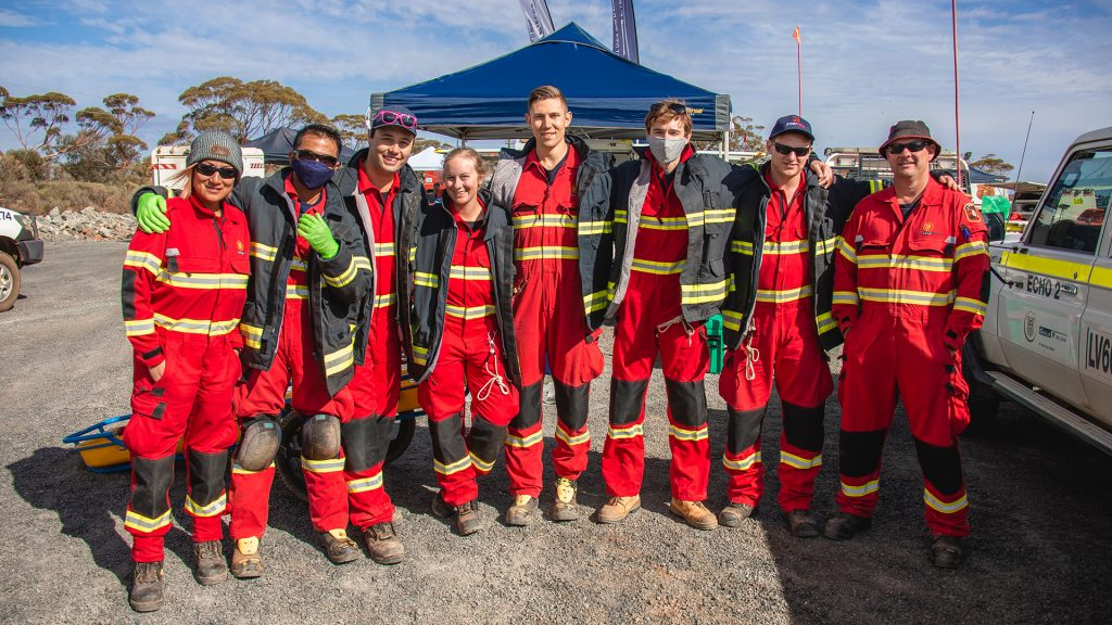 Victoria Putter (fourth from left) and the St Ives rescue team.